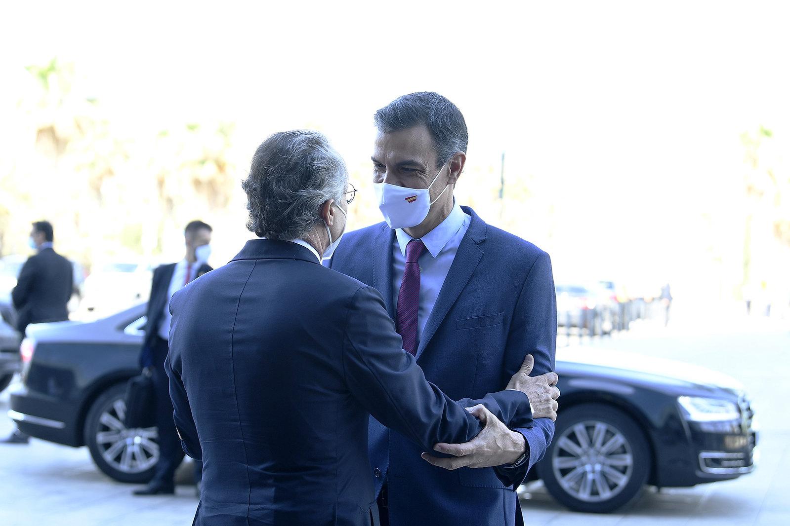 Pedro Sánchez a su llegada al acto del Cercle d'Economia