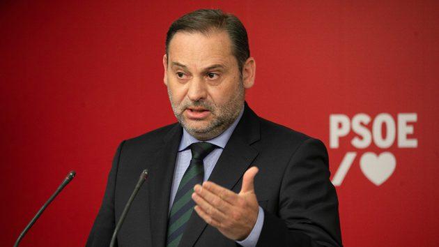 José Luis Ábalos durante la rueda de prensa