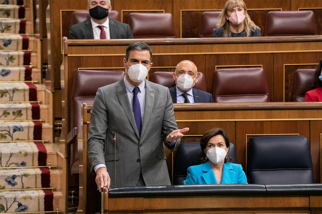 Pedro Sánchez en la sesión de control al Gobierno