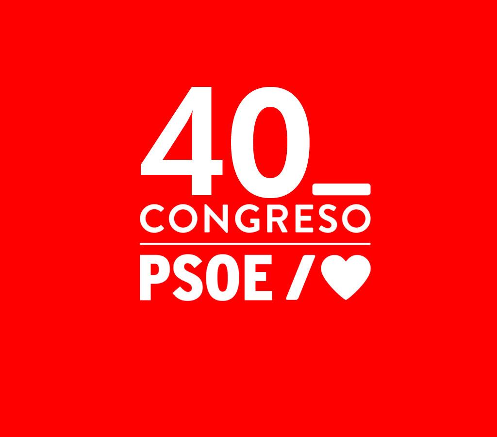 documentación del 40 Congreso Federal del PSOE que se celebrará en Valencia los próximos días 15, 16 y 17 de Octubre