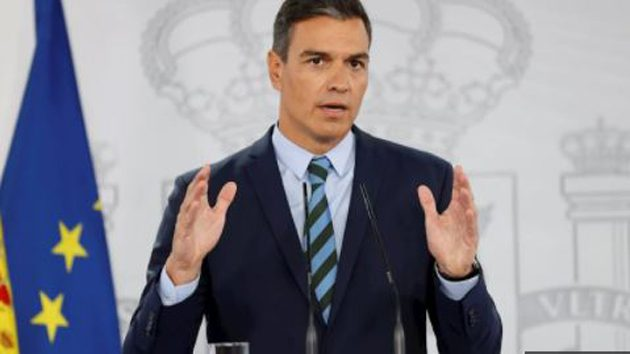 Pedro Sánchez durante su comparecencia en Moncloa