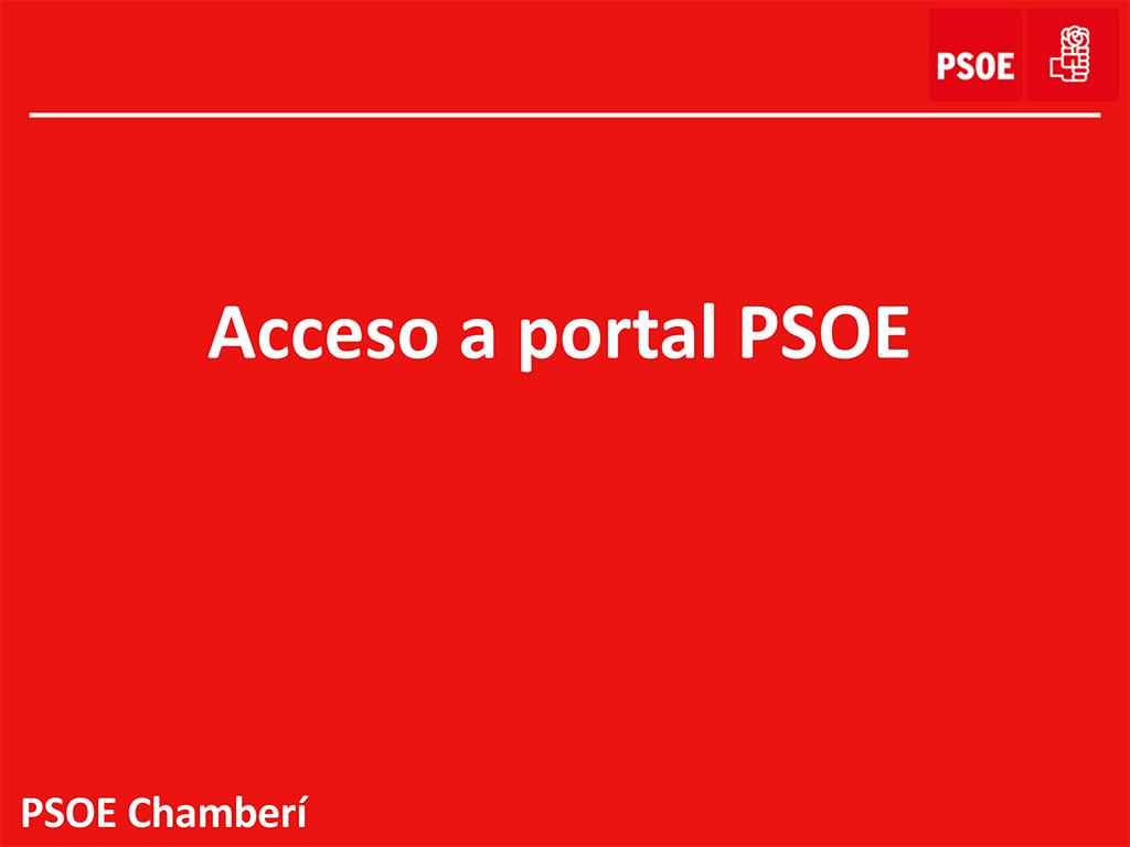 Acceso online, portal psoe.es