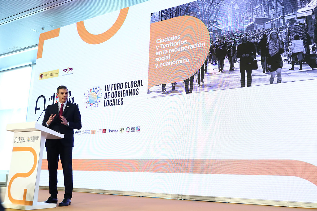 Pedro Sánchez en la inauguración del Foro